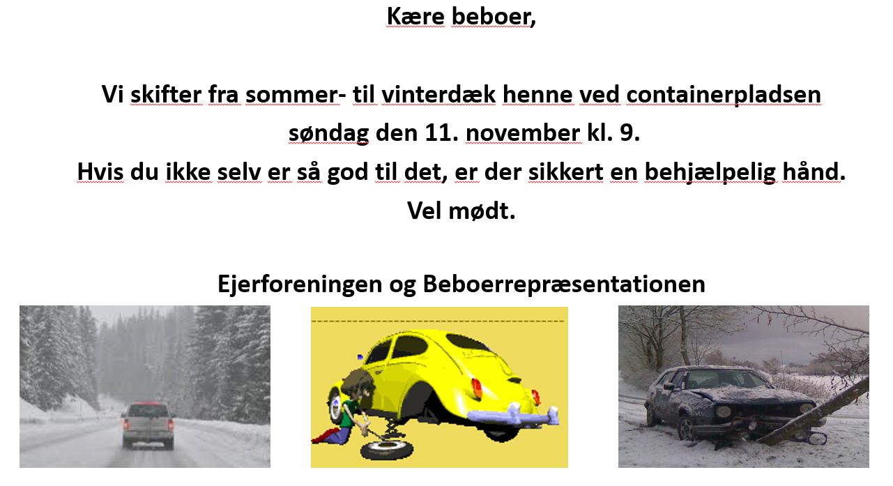 Vinterdæk skiftning nov 2018